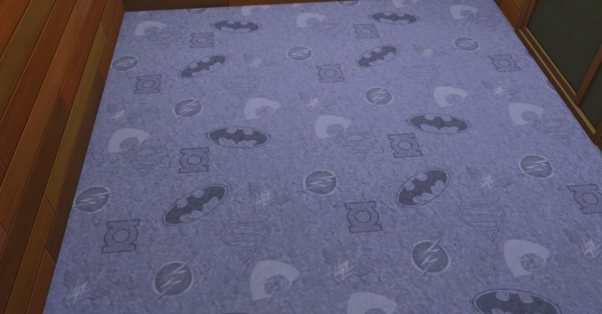 Dc Comics Hero Logo Carpet in 7 colors by NicoletteAunreel at Mod The Sims image 5017 670x350 Sims 4 Updates