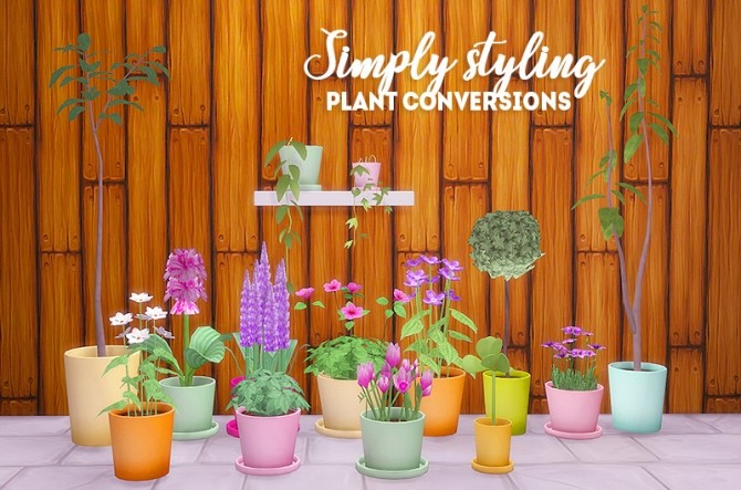 Simply styling plant conversions at Lina Cherie image 503 670x443 Sims 4 Updates