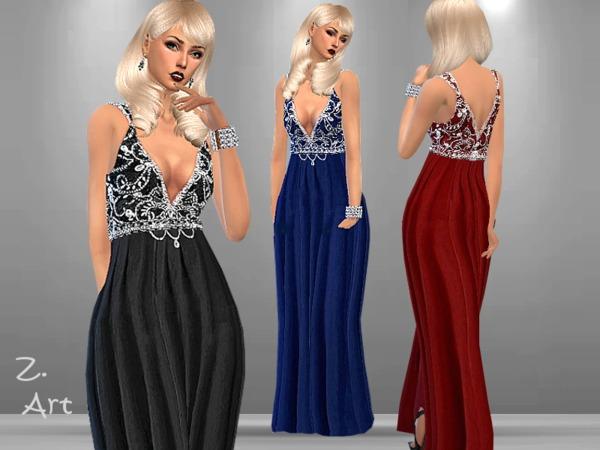 Sims 4 Luxury 01 dress by Zuckerschnute20 at TSR