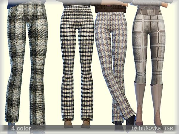 Sims 4 Pants Plaid by bukovka at TSR