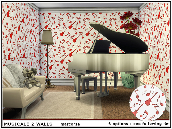 Musicale 2 Walls by marcorse at TSR image 534 Sims 4 Updates