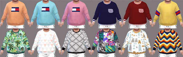 Sims 4 Sweaters Toddler at Descargas Sims