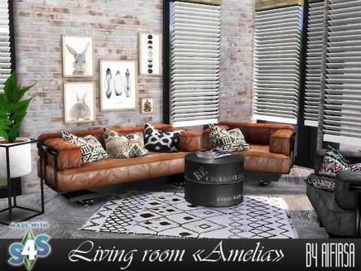 Amelia livingroom at Aifirsa image 551 Sims 4 Updates