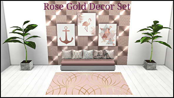 Rose Gold Decor Set recolors by TaTschu at Blooming Rosy image 5510 Sims 4 Updates