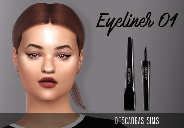 Eyeliner 01 at Descargas Sims image 552 Sims 4 Updates