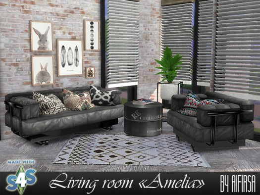 Amelia livingroom at Aifirsa image 561 Sims 4 Updates