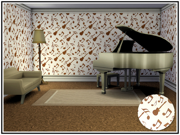 Musicale 2 Walls by marcorse at TSR image 564 Sims 4 Updates