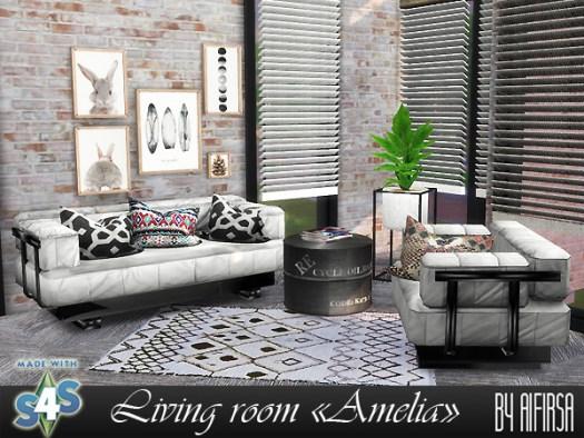 Amelia livingroom at Aifirsa image 571 Sims 4 Updates