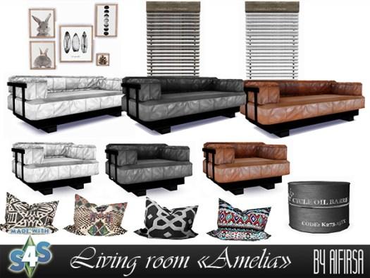 Amelia livingroom at Aifirsa image 581 Sims 4 Updates