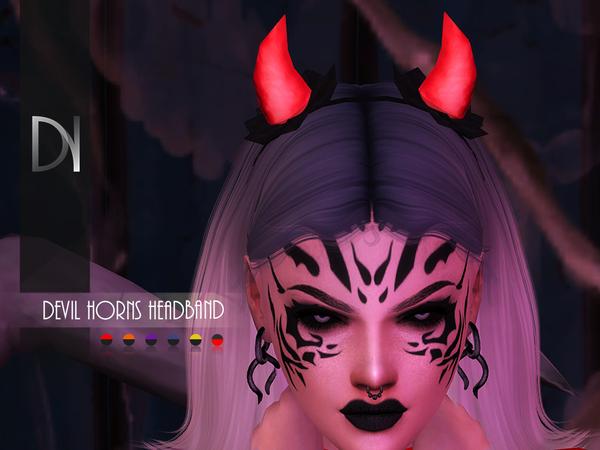 Sims 4 Devil Horns Headband by DarkNighTt at TSR