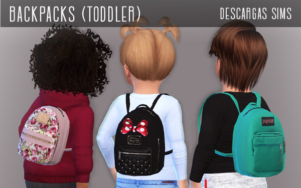 Backpacks Toddler at Descargas Sims image 592 Sims 4 Updates