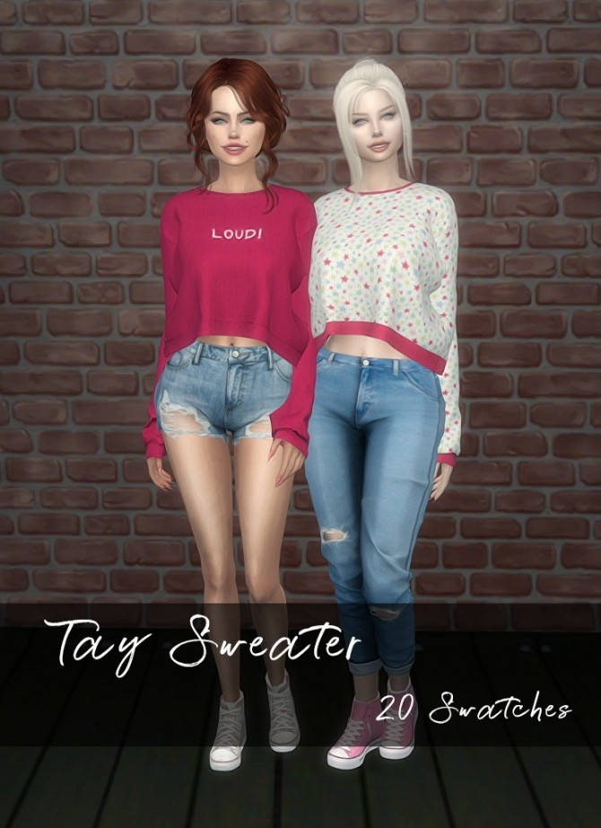 DaisyPixels Tay Sweater recolors at SkyFallSims Creation´s image 597 670x922 Sims 4 Updates