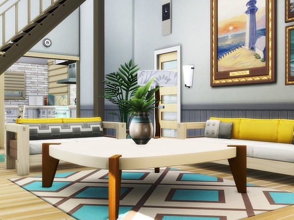 Sims 4 Family Hideout house by MychQQQ at TSR