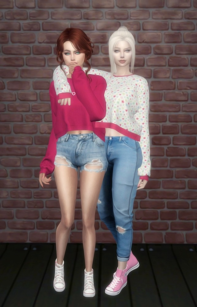 DaisyPixels Tay Sweater recolors at SkyFallSims Creation´s image 607 642x1000 Sims 4 Updates