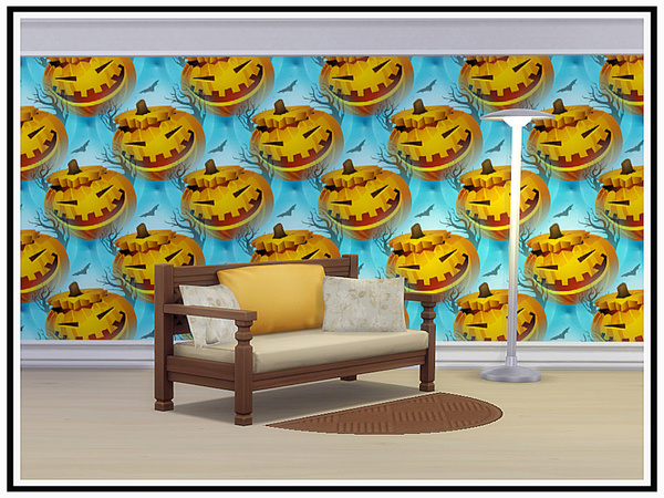 Sims 4 Halloween 3 Walls by marcorse at TSR