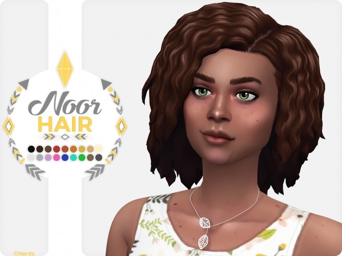 Noor Hair at Nords Sims image 615 670x503 Sims 4 Updates
