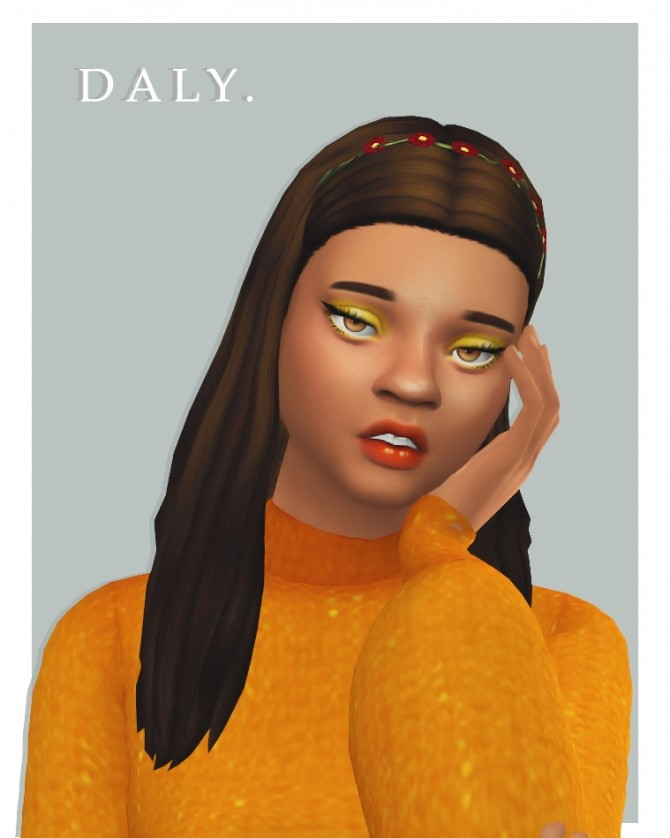 Sims 4 Isjao's daly hair recolour at cowplant pizza