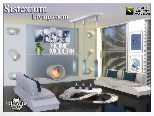 Sims 4 Sistexium livingroom by jomsims at TSR