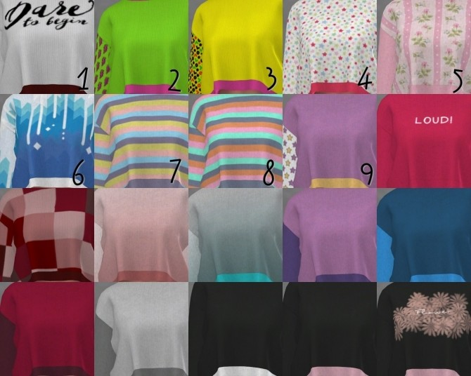 DaisyPixels Tay Sweater recolors at SkyFallSims Creation´s image 628 670x536 Sims 4 Updates