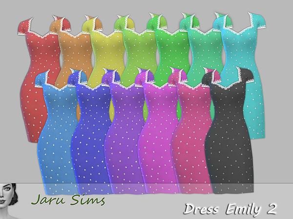 Sims 4 Dress Emily 2 by Jaru Sims at TSR