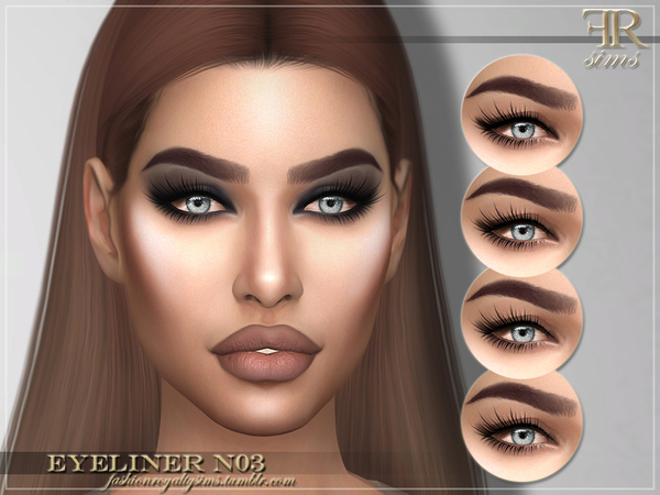 FRS Eyeliner N03 by FashionRoyaltySims at TSR image 6317 Sims 4 Updates