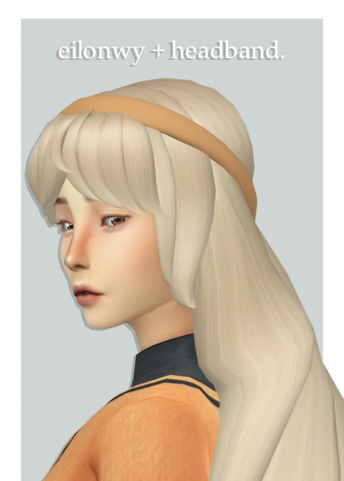 Sims 4 Tekri's eilonwy hair + hairband 1 overlay at cowplant pizza