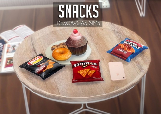 Snacks at Descargas Sims image 642 670x478 Sims 4 Updates