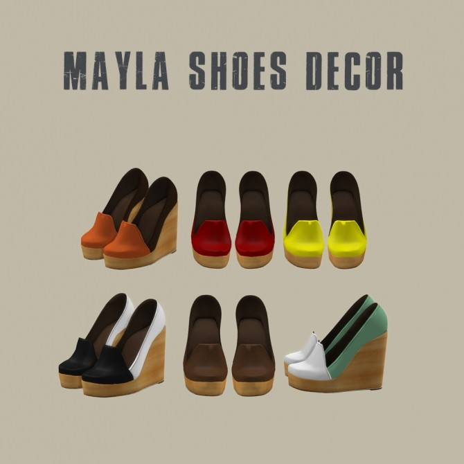 Sims 4 Mayla Shoes at Leo Sims