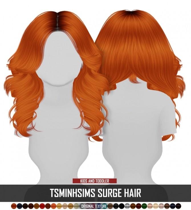 Sims 4 TSMINHSIMS SURGE HAIR KIDS AND TODDLER VERSION by Thiago Mitchell at REDHEADSIMS