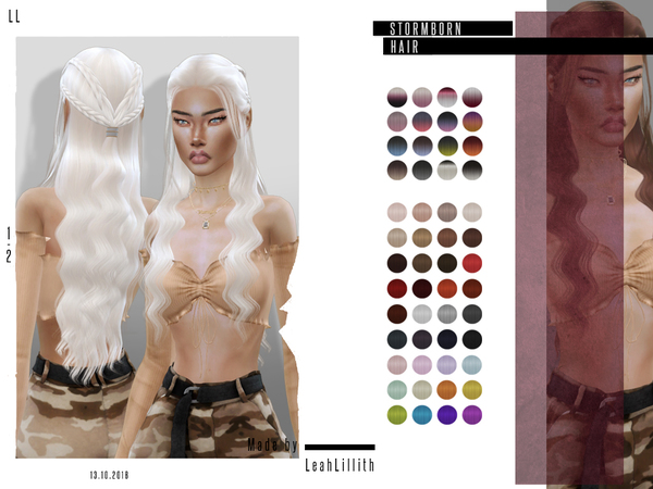 Stormborn Hair by Leah Lillith at TSR image 668 Sims 4 Updates