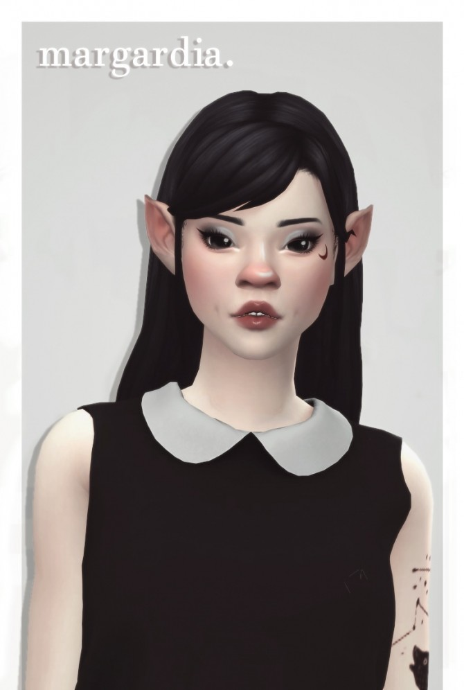 Sims 4 Zurkdesign's margadia hair recolours at cowplant pizza