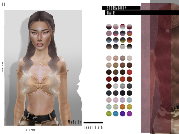 Stormborn Hair by Leah Lillith at TSR image 678 Sims 4 Updates