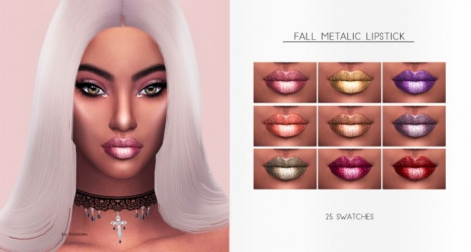 FALL METALLIC LIPSTICK at FROST SIMS 4 image 679 670x359 Sims 4 Updates