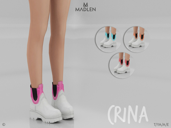 Sims 4 Madlen Crina Boots by MJ95 at TSR