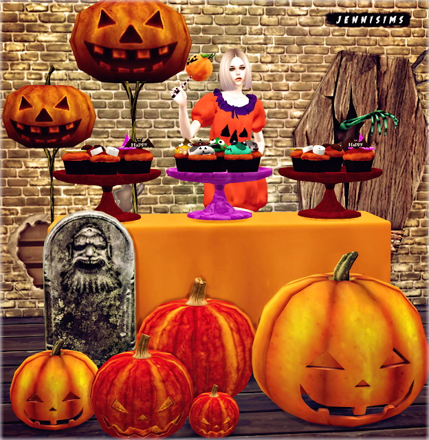 Halloween Clutter 8 Items at Jenni Sims image 697 Sims 4 Updates