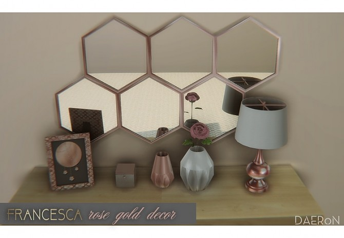 Francesca Rose Gold Decor by daer0n at Blooming Rosy image 699 670x463 Sims 4 Updates