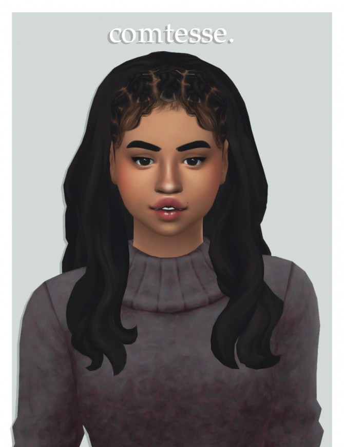 Sims 4 Wondercarlotta's comtesse hair recolours at cowplant pizza