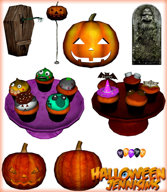 Halloween Clutter 8 Items at Jenni Sims image 706 Sims 4 Updates