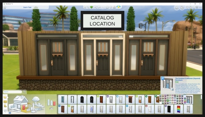 Sims 4 The Greatest Craftsman Squared Single Door Recolours by Simmiller at Mod The Sims