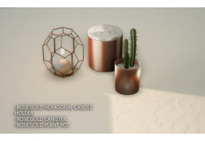 Francesca Rose Gold Decor By Daer0n At Blooming Rosy