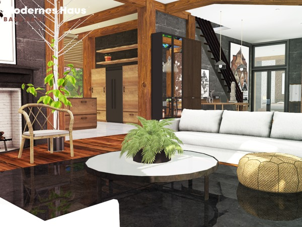 Modernes haus by pralinesims at tsr sims 4 updates for Modernes haus sims