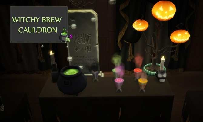 Witchy Brew Cauldron by icemunmun at Mod The Sims image 7121 670x404 Sims 4 Updates