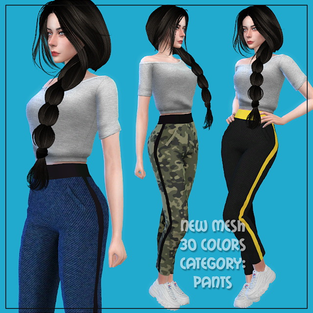 Pants 06 at All by Glaza image 715 Sims 4 Updates