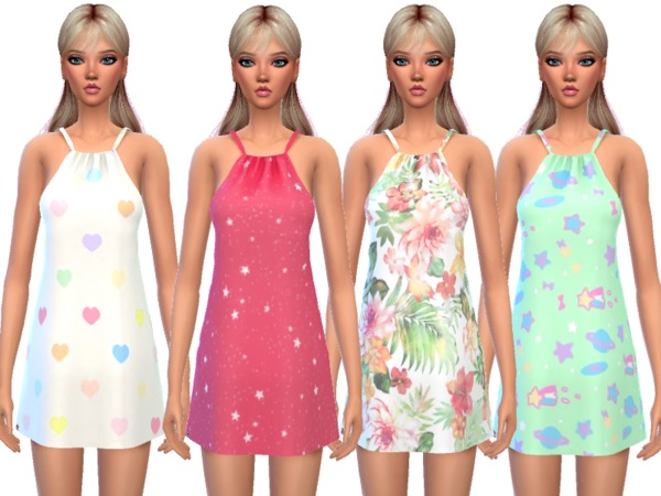 Kawaii Pajama Dress by Wicked Kittie at TSR image 717 Sims 4 Updates