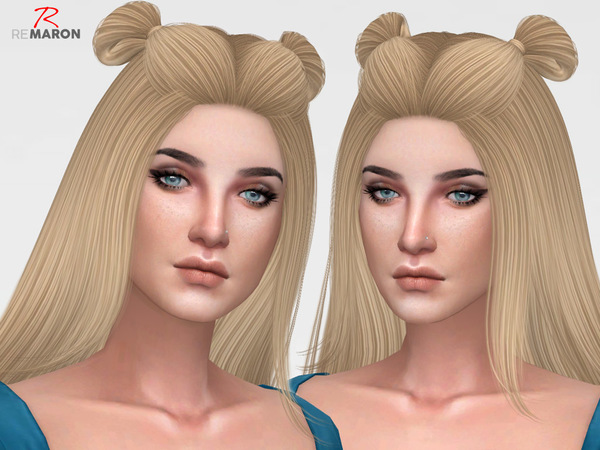Sims 4 Spice Hair Retexture by remaron at TSR