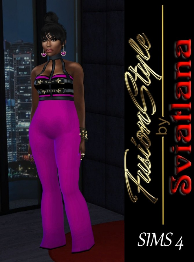 Sims 4 Silk suit for party at FusionStyle by Sviatlana