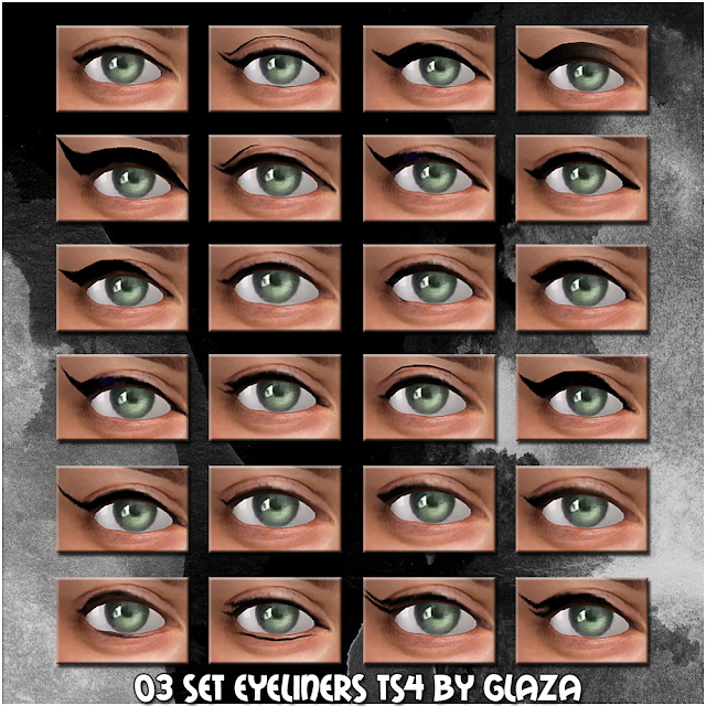 Eyeliner set 03 at All by Glaza image 7212 Sims 4 Updates