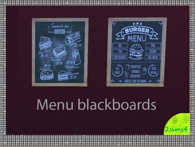 4 blackboards for restaurants by lurania at Mod The Sims image 7215 670x503 Sims 4 Updates
