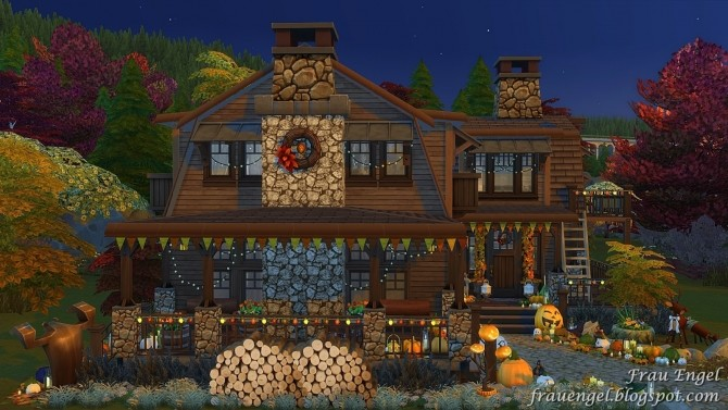 Autumn Paradise house at Frau Engel image 757 670x377 Sims 4 Updates