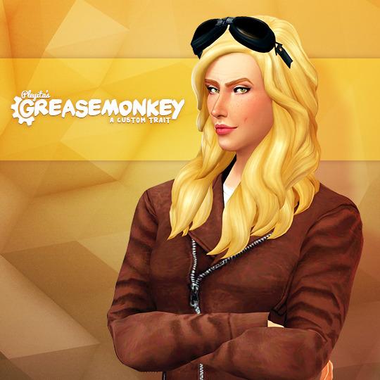 Sims 4 GREASEMONKEY custom trait at Pleyita